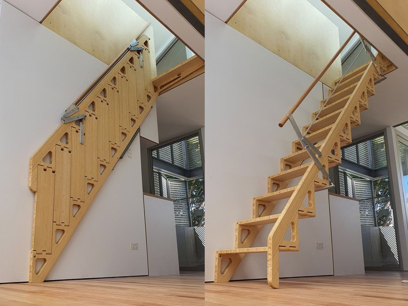 Scala Retrattile In Legno Bcompact Hybrid Stair By Bcompact
