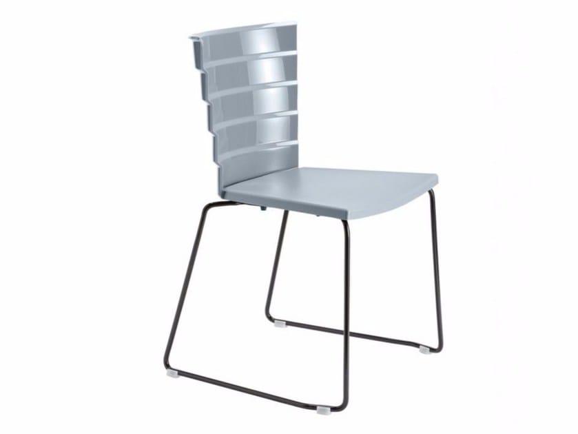 Sled base polypropylene chair Bikini 531 by Metalmobil