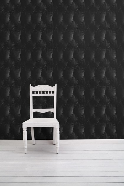 Wallpaper BLACK CHESTERFIELD BUTTON BACK by Mineheart