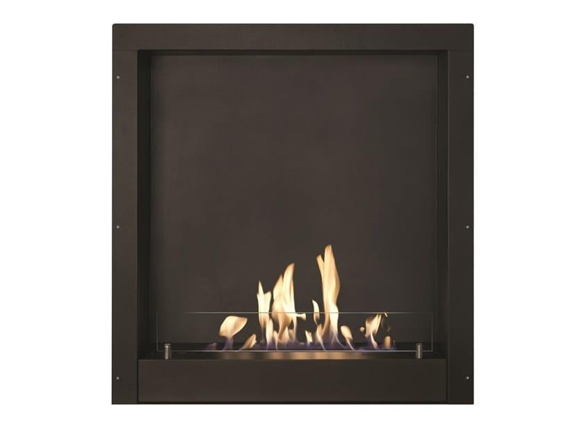 Built-in bioethanol vent free metal fireplace Black metallic box by BRITISH FIRES