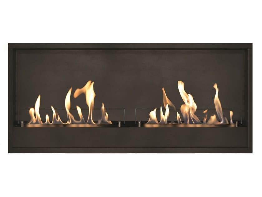 Bioethanol wall-mounted vent free metal fireplace Black metallic box XXL by BRITISH FIRES