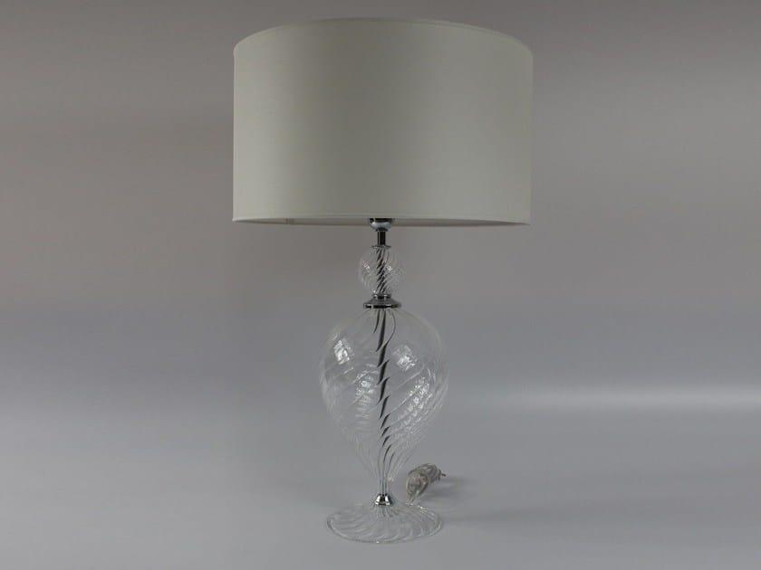 Handmade blown glass table lamp 1002 | Blown glass table lamp by Ipsilon PARALUMI