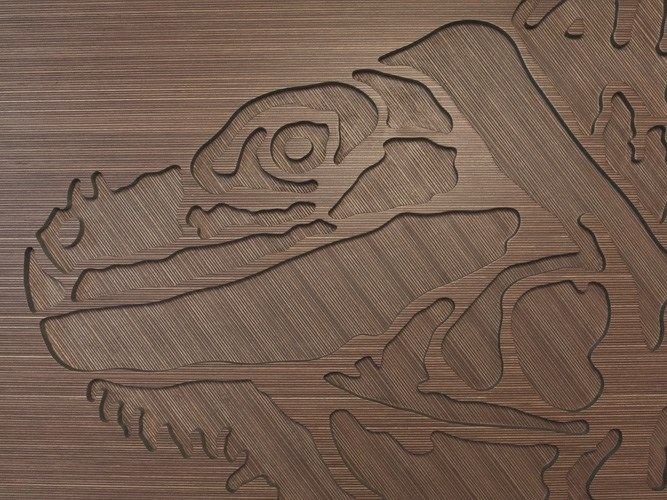 Wooden sculpture COLOURED MDF | Wooden sculpture by Plexwood
