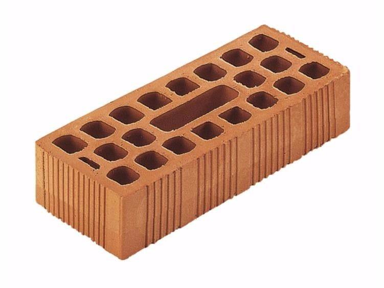 Clay building block / External masonry clay block Bolognese brick 14x28x6 (45%) by Wienerberger