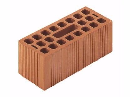 Clay building block / External masonry clay block Bolognesi double brick 14x28x12 by Wienerberger