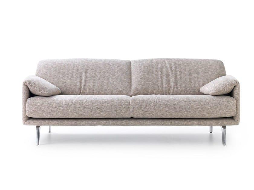 3 seater fabric sofa BORA BALANZA by LEOLUX