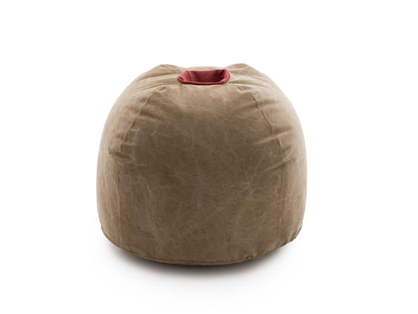 Upholstered round fabric pouf BOUM   Fabric pouf by ManifestoDesign