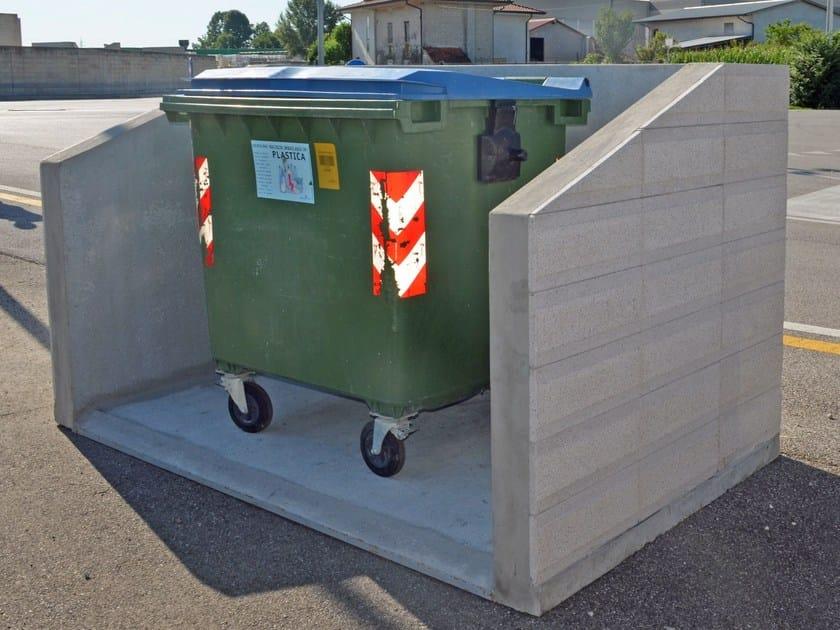 Element for perimeter enclosure Box for bins by Edil Leca Infrastrutture