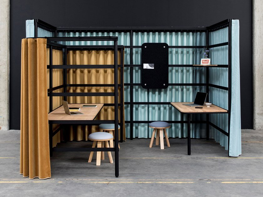 Free-standing office booth BuzziBracks by BuzziSpace