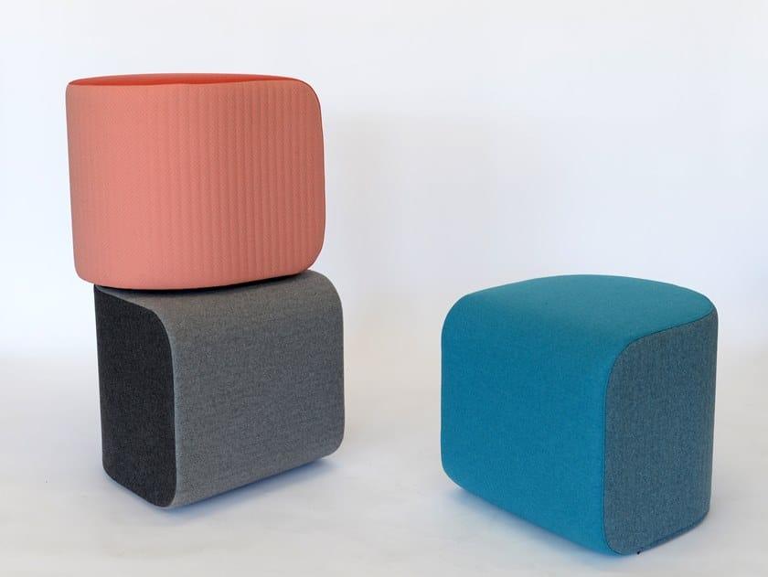 Fabric sound absorbent pouf BuzziDee by BuzziSpace