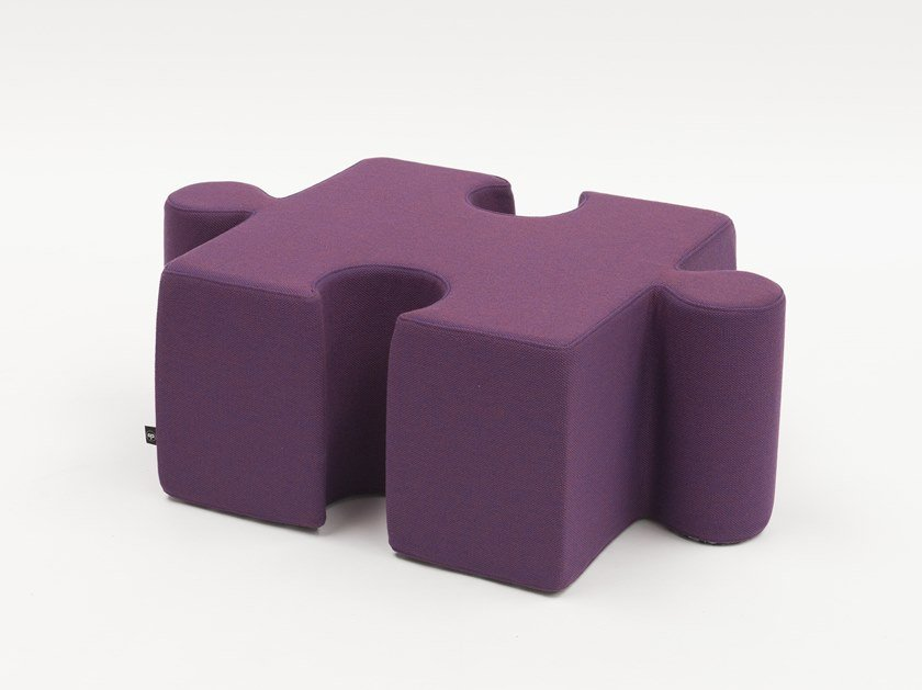 Sectional upholstered felt pouf BuzziPuzzle by BuzziSpace
