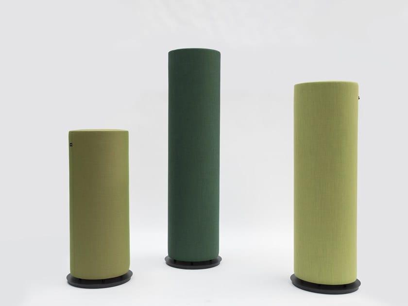 Free standing acoustic pillar BuzziTotem by BuzziSpace