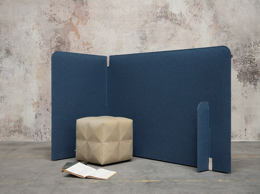 Free standing sound absorbing screen BuzziZone by BuzziSpace