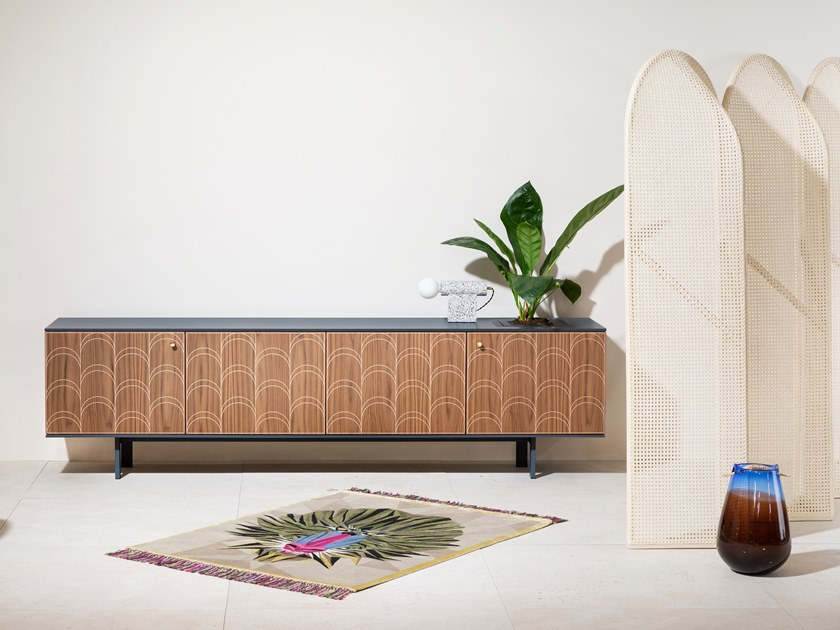 Wooden sideboard with doors CÉLIA by Miniforms