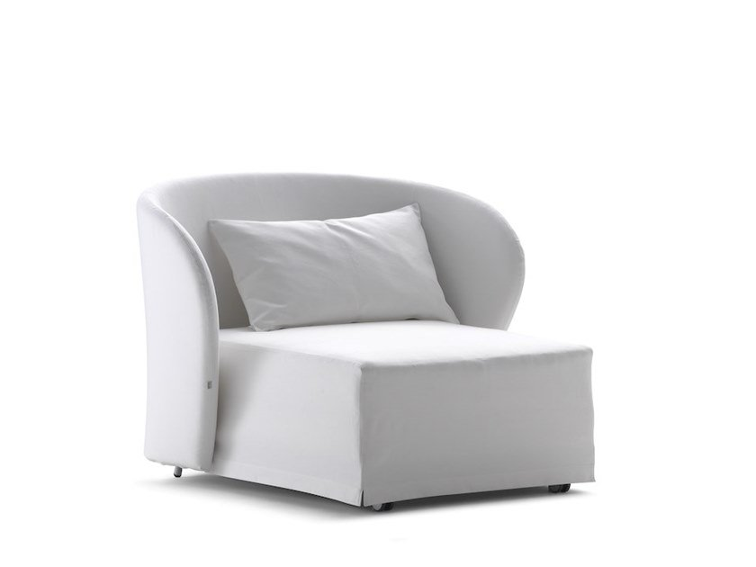 Upholstered armchair with removable cover CÉLINE   Armchair bed by Flou