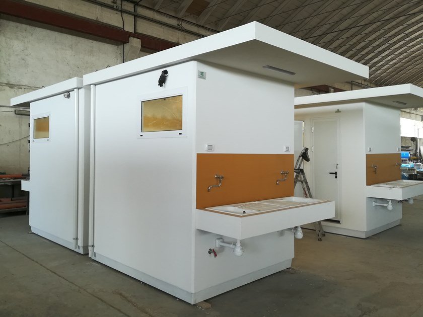 3 functions reinforced concrete Prefabricated toilet for Disabled C-06(02) | Prefabricated toilet by Emmecinque Monoblocchi