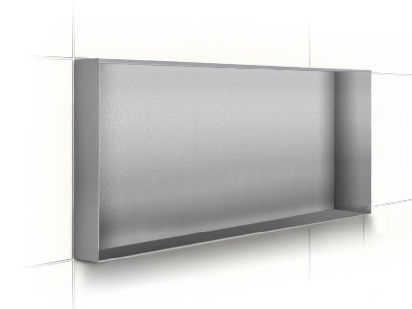 Stainless steel wall niche / bathroom wall shelf C-BOX STAINLESS STEEL by ESS Easy Drain