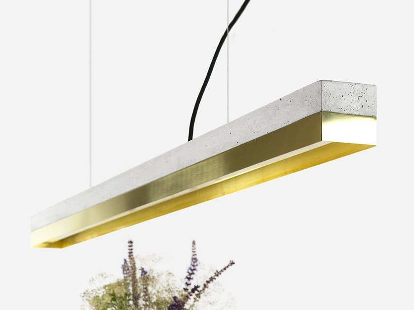 Dimmable LED pendant light [C1] BRASS by GANTlights