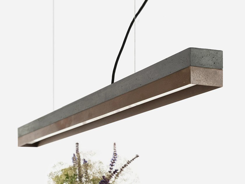 LED direct light Corten™ pendant lamp [C1] DARK CORTEN STEEL by GANTlights