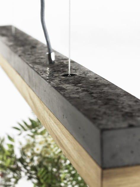 Gantlightsc1Dark A E Legno Oak Cemento Led In Lampada Sospensione 35KulJTF1c