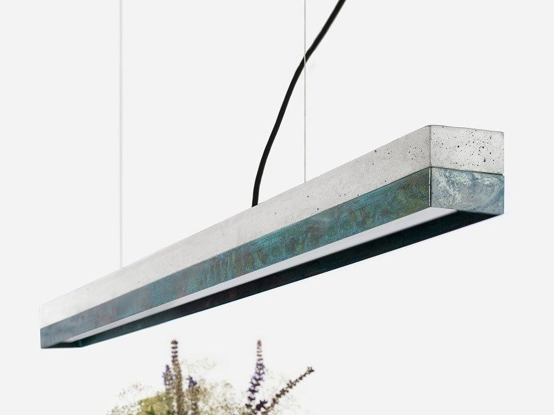 Dimmable LED Pendant Light (L 122cm) [C1] OXIDISED COPPER by GANTlights