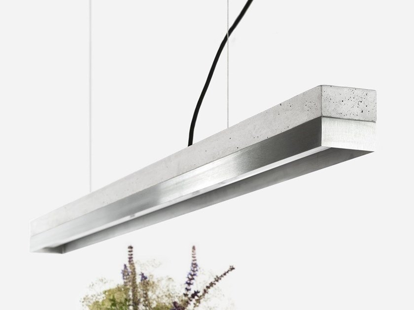 Dimmable LED Pendant Light (L 122cm) [C1] STAINLESS STEEL by GANTlights