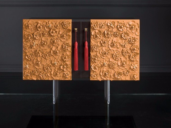 Lacquered wooden bar cabinet C124 | Bar cabinet by Rozzoni