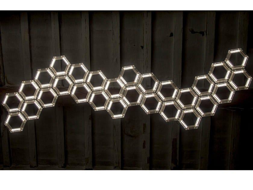 LED PMMA pendant lamp C13 by Kriladesign