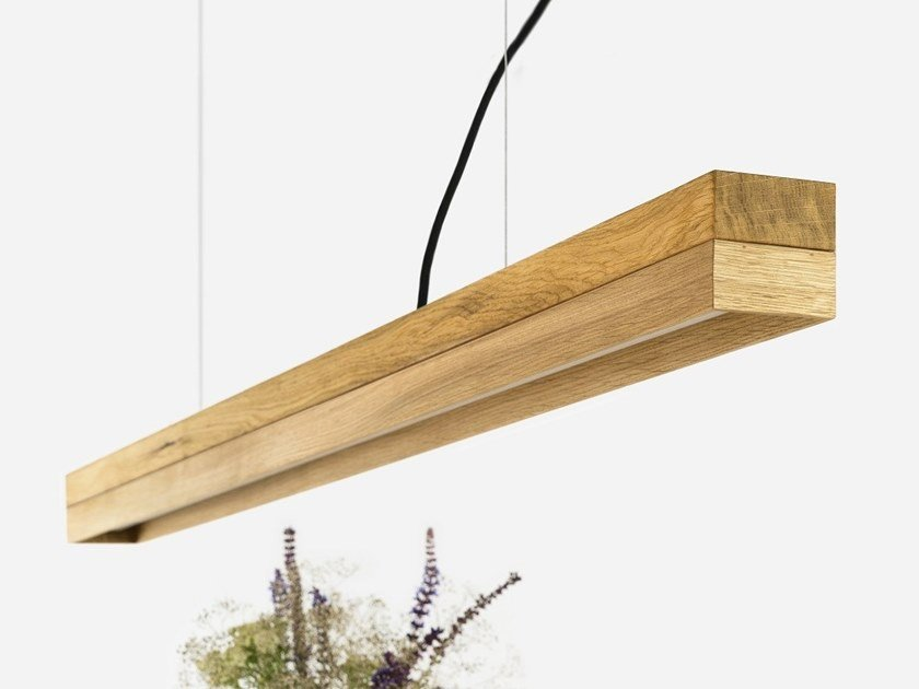 Dimmable LED Pendant Light (L 122cm) [C1o] OAK by GANTlights