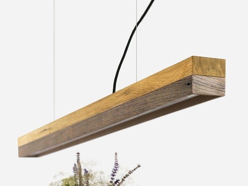 Dimmable LED Pendant Light (L 122cm) [C1o] OLD WOOD by GANTlights