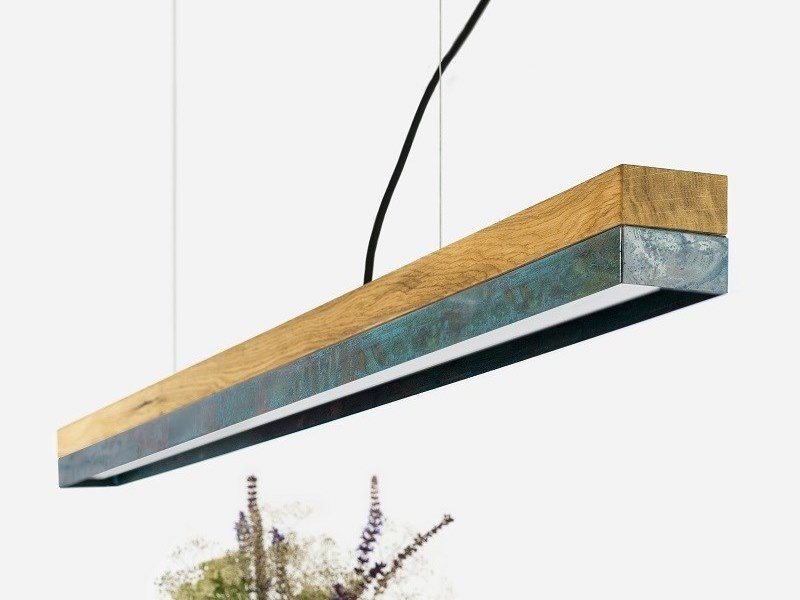 Dimmable LED Pendant Light (L 122cm) [C1o] OXIDISED COPPER by GANTlights