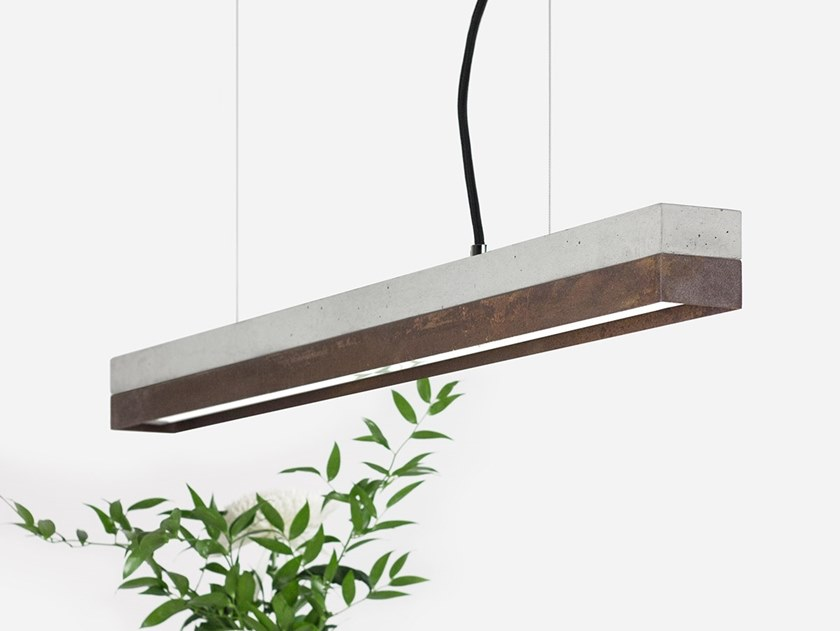 Dimmable LED pendant light (L 92cm) [C2] CORTEN STEEL by GANTlights