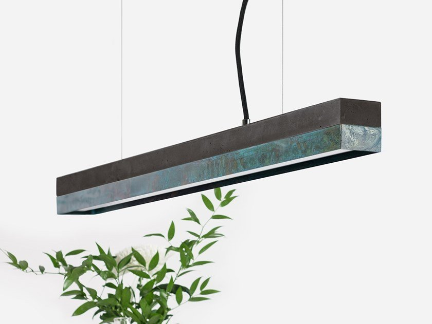 Dimmable LED pendant light (L 92cm) [C2] DARK OXI by GANTlights