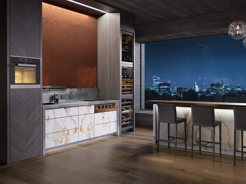 Ergonomic professional kitchen C2 | Kitchen by MARRONE + MESUBIM