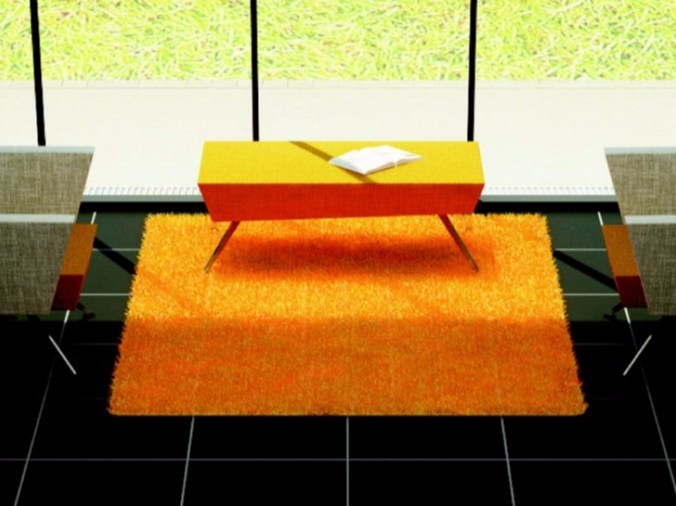Upholstered fabric bench C2 P | Bench by TALIN