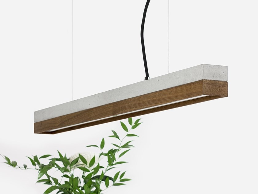 Dimmable LED Pendant Light (L 92cm) [C2] WALNUT by GANTlights