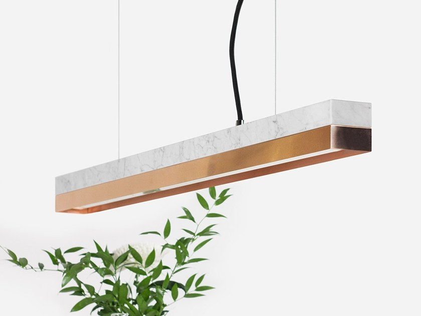 Dimmable LED pendant light (L 92cm) [C2m] CARRARA COPPER by GANTlights