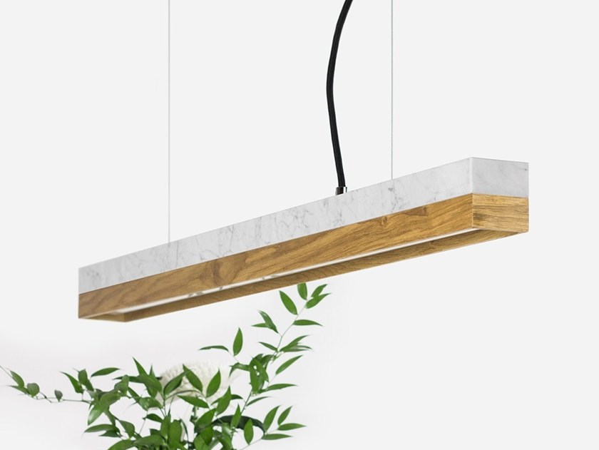Dimmable LED pendant light (L 92cm) [C2m] CARRARA OAK by GANTlights