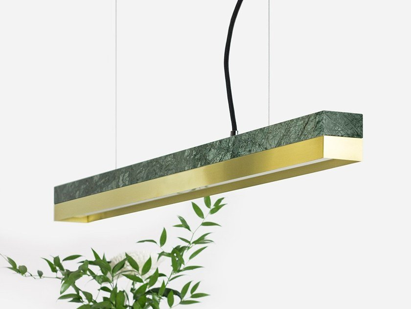 Dimmable LED pendant light (L 92cm) [C2m] ​GUATEMALA BRASS by GANTlights