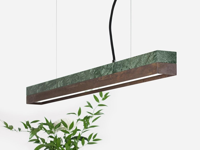 Dimmable LED pendant light (L 92cm) [C2m] GUATEMALA CORTEN STEEL by GANTlights
