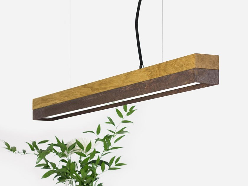 Dimmable LED Pendant Light (L 92cm) [C2o] CORTEN STEEL by GANTlights