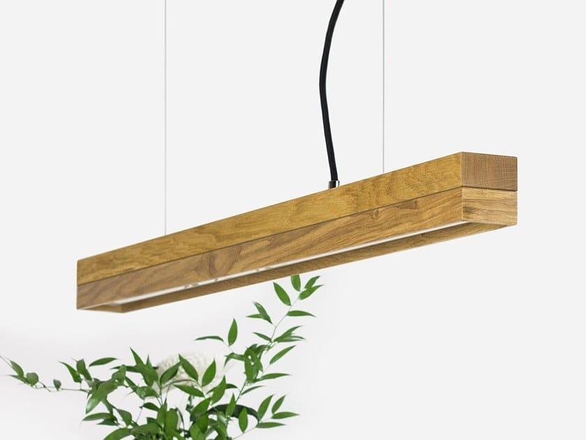 Dimmable LED pendant light (L 92cm) [C2o] OAK by GANTlights