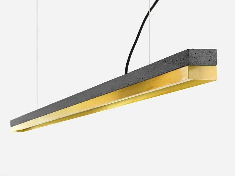 Dimmable LED Pendant Light (L 182cm) [C3] DARK BRASS by GANTlights