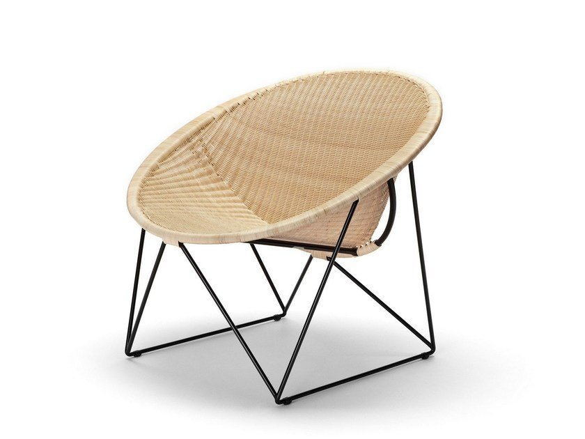 Poltroncina a slitta in rattan C317 by Feelgood Designs
