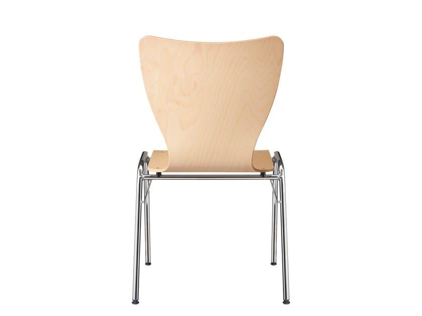 Malscher Sitzmöbel stapelbarer stuhl aus buche c3232 by msm