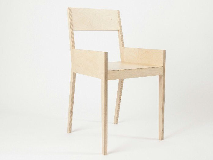 Chair with armrests C4   Chair by MALHERBE EDITION