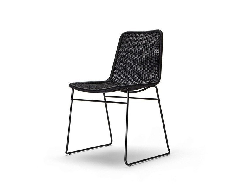 Sled base stackable polyethylene garden chair C607 OUTDOOR | Chair by Feelgood Designs