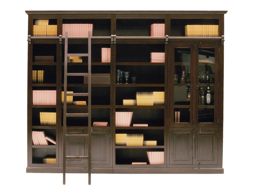 Open wooden bookcase CABANA | Open bookcase by KARE-DESIGN