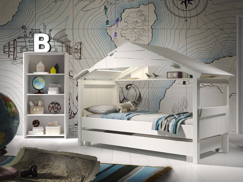 Trundle bed CABANE STAR by Mathy by Bols