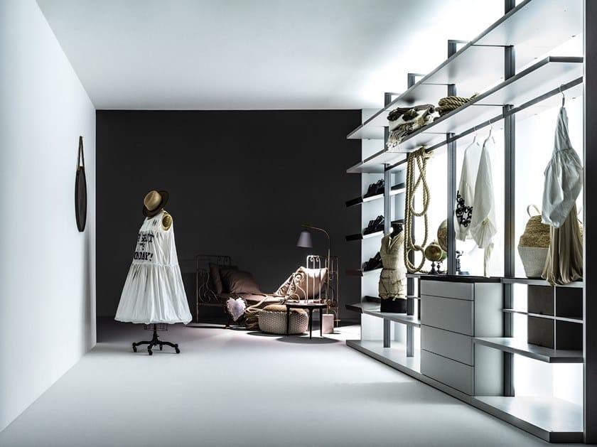 Sectional wooden walk-in wardrobe CABINA | Walk-in wardrobe by Caccaro